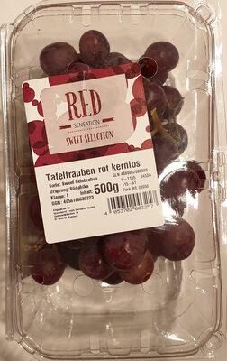 Tafeltrauben rot kernlos, Sorte: Sweet Celebration, Klasse: I - Produkt