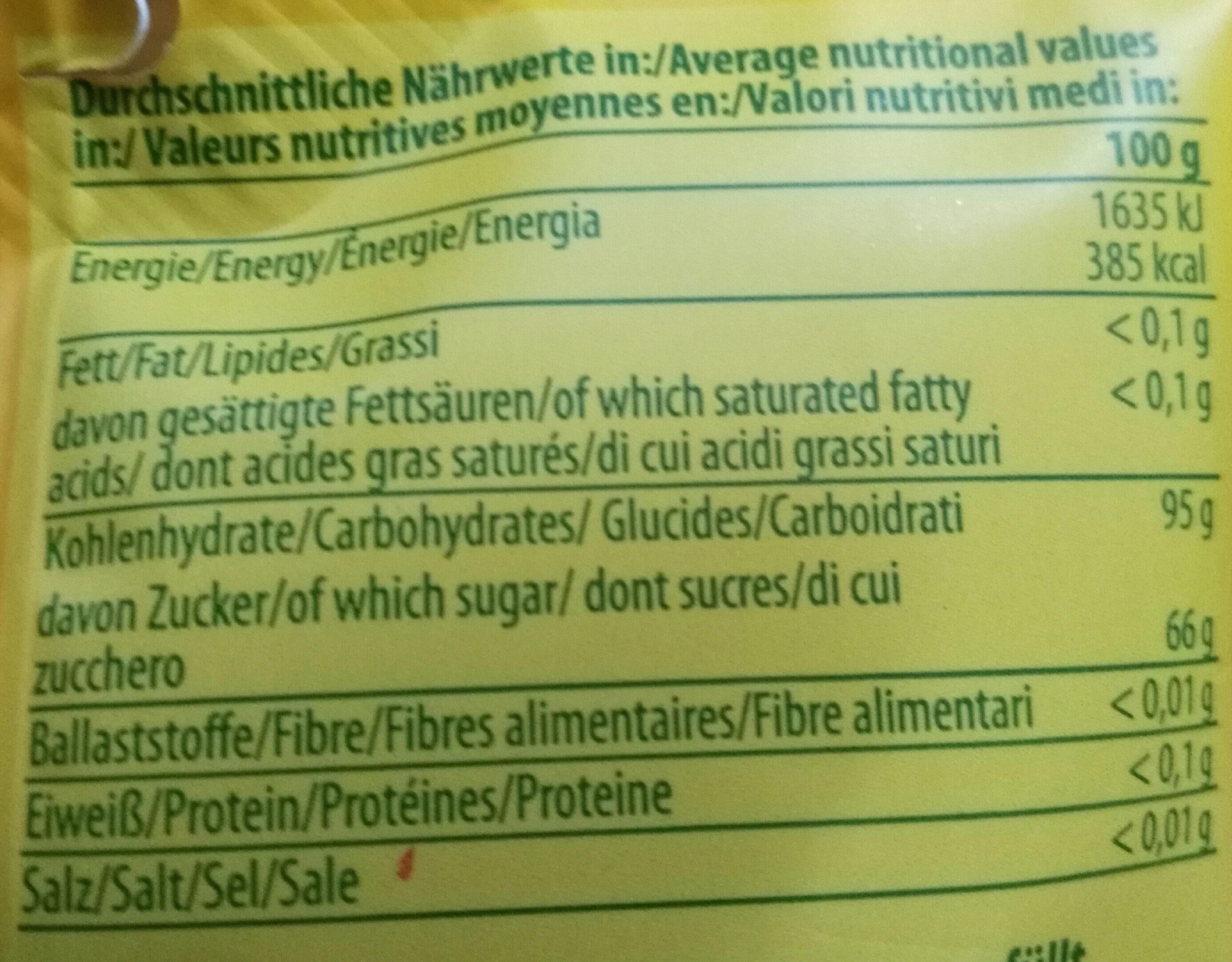 Gefullte Bonbons - Voedingswaarden - de