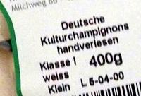 Deutsche Kulturchampignons - Ingrediënten