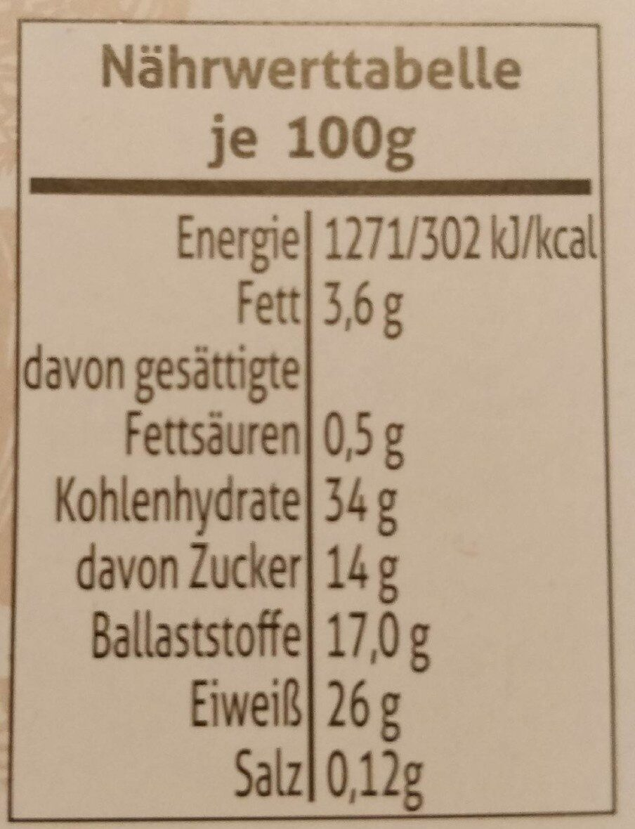 Steinpilze luftgetrocknet - Nährwertangaben - de