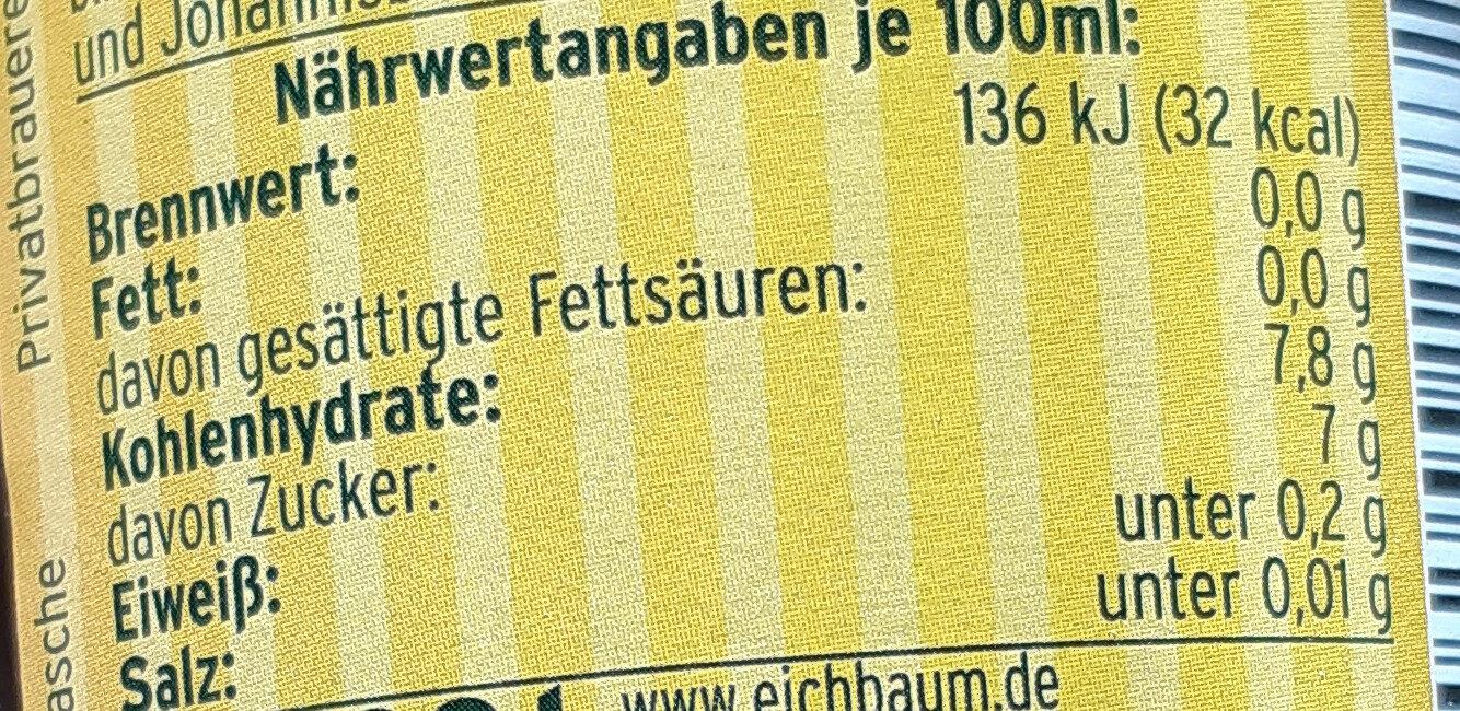 Braumeisters Limonade Zitrone naturtrüb - Valori nutrizionali - de