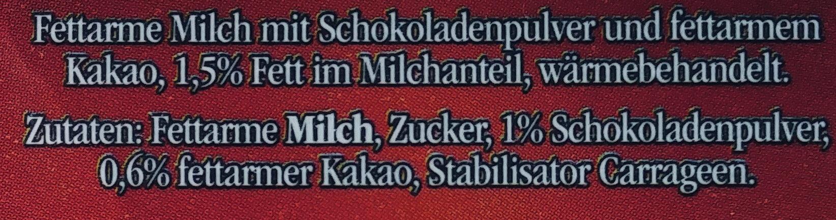 Frische Schokomilch - Ingrédients