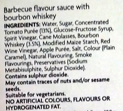 Bourbon BBQ Sauce - Ingredients - en