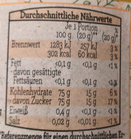 Bellafonde Blütenhonig cremig - Voedingswaarden - de