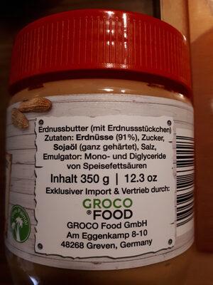 Peanut butter - Ingredienti - de