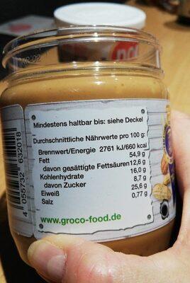Peanut butter - Valori nutrizionali - de