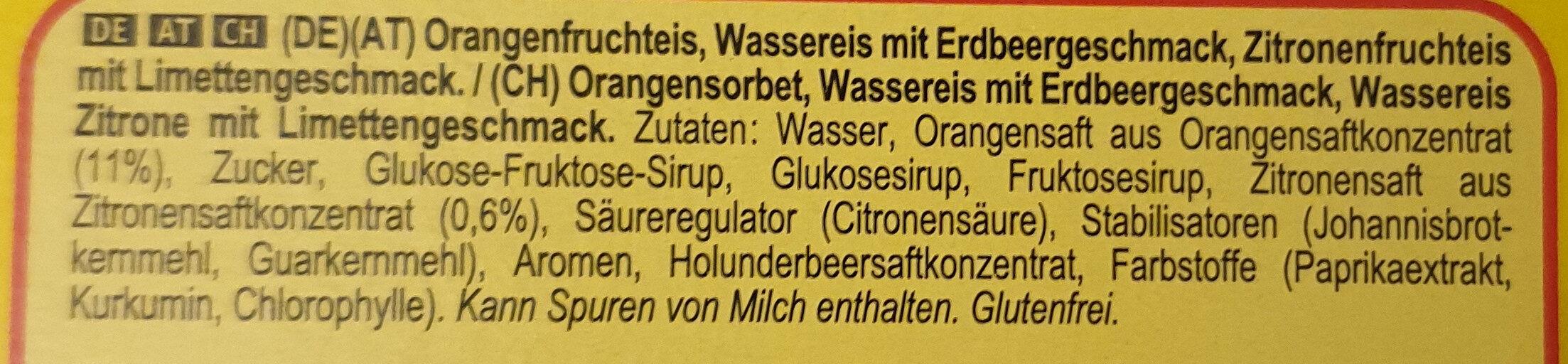 Flutschfinger - Ingredients - de