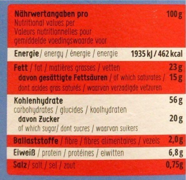 Dinkel shortbread bites - Valori nutrizionali - de