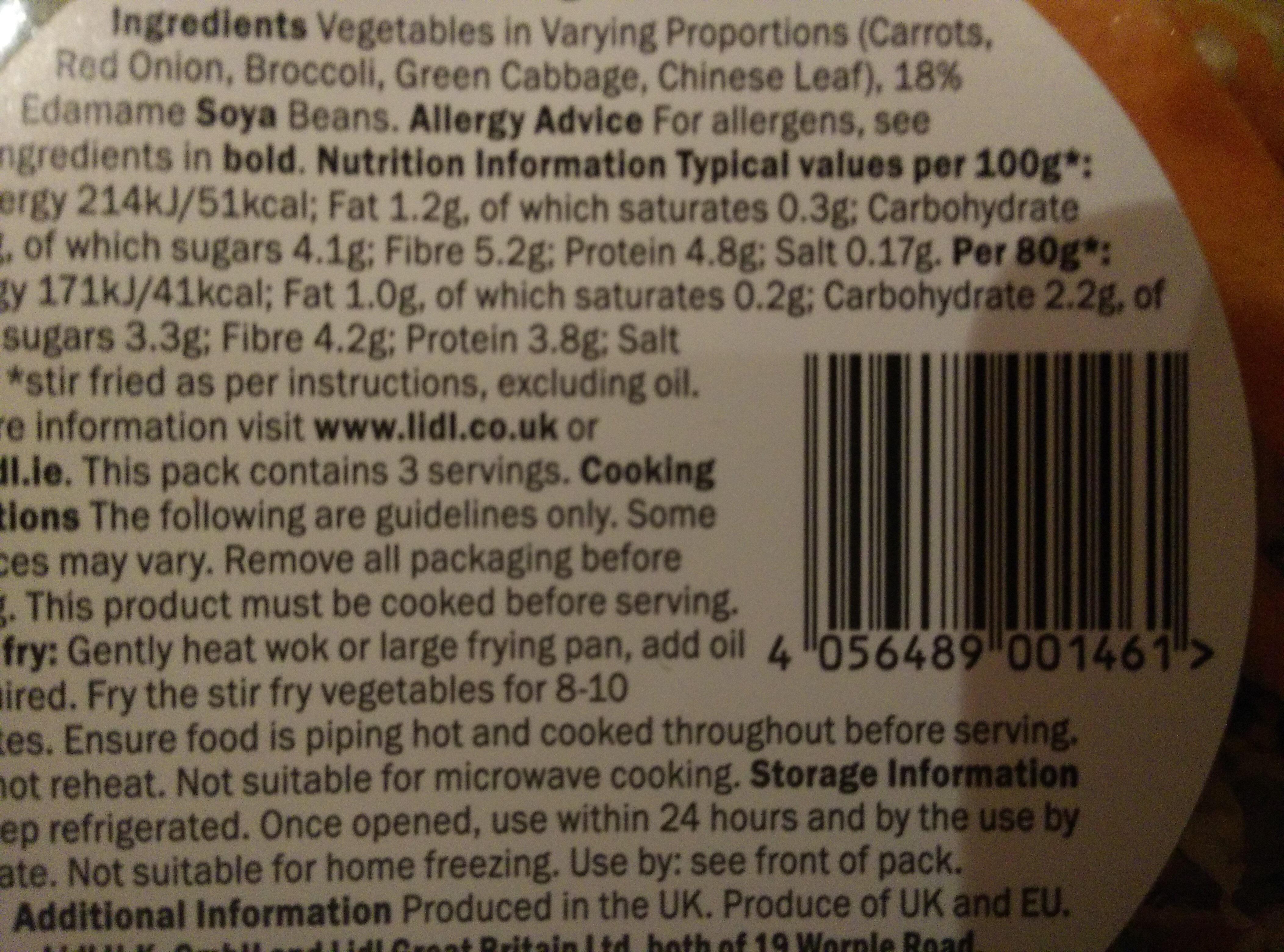 Edamame stir fry bowl - Ingredients