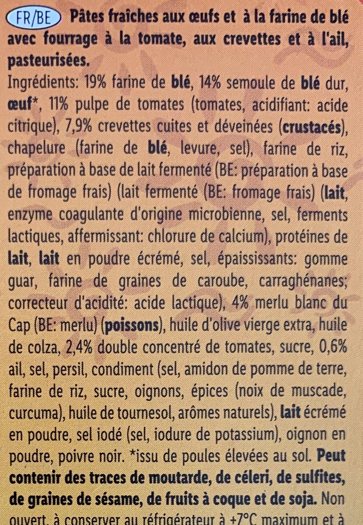 Mezzalune con Gambas - Ingrediënten - fr