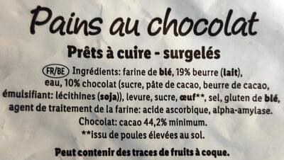 Pains au chocolat - Ingrédients - fr