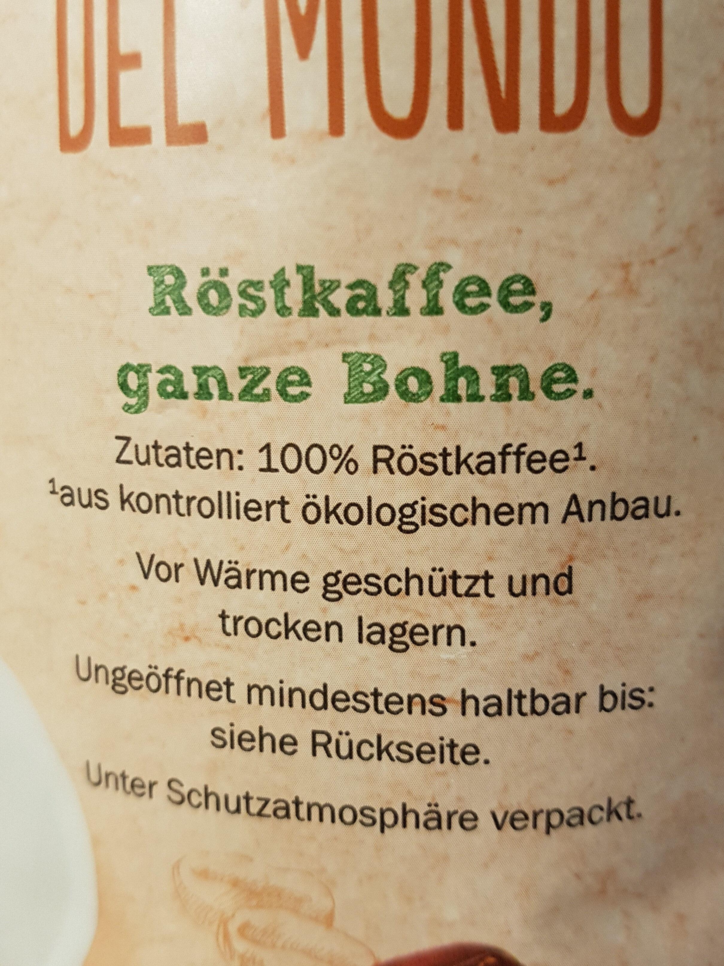 Café del mundo - Ingredients