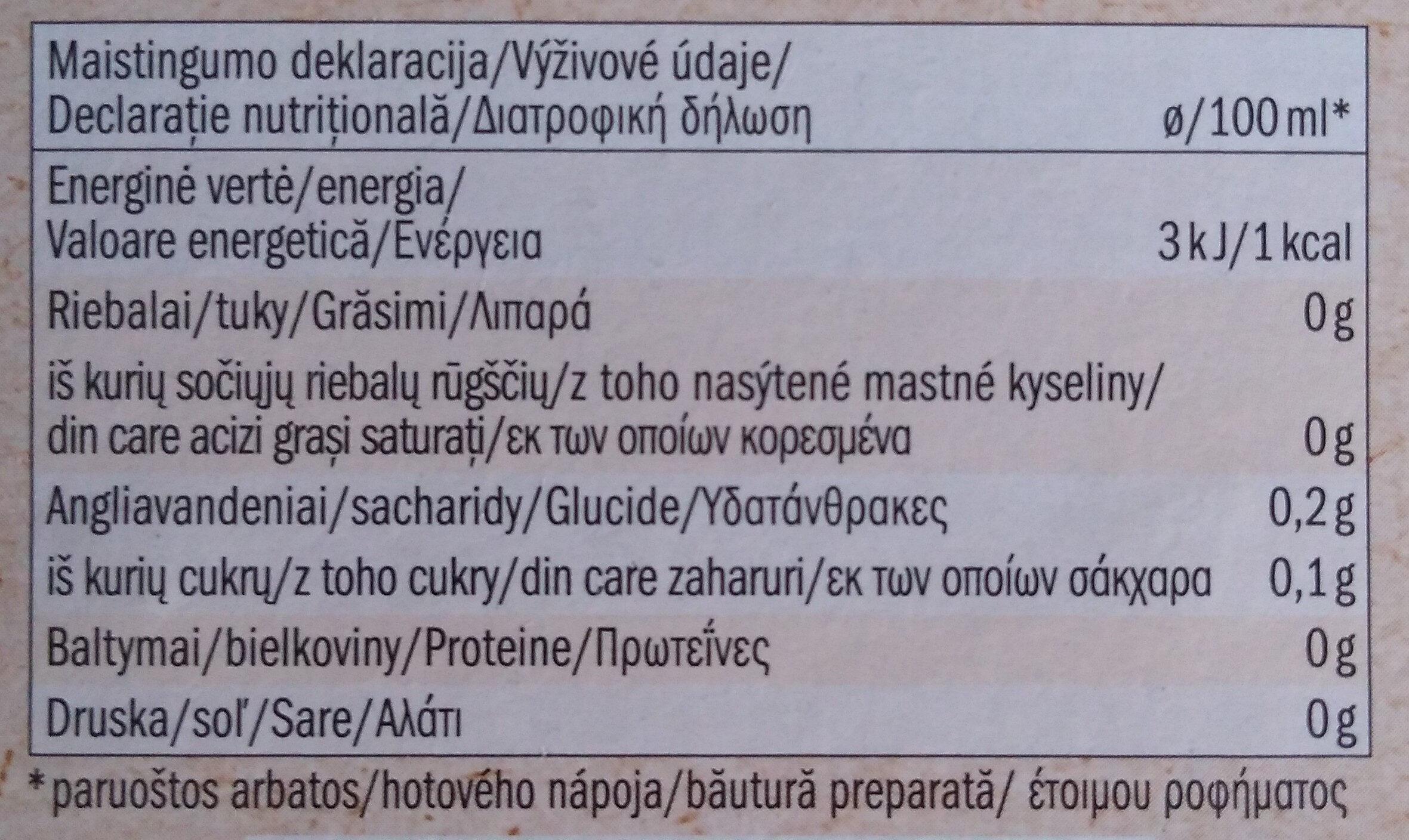 Bio Pure organic Fennel - Nutrition facts - en