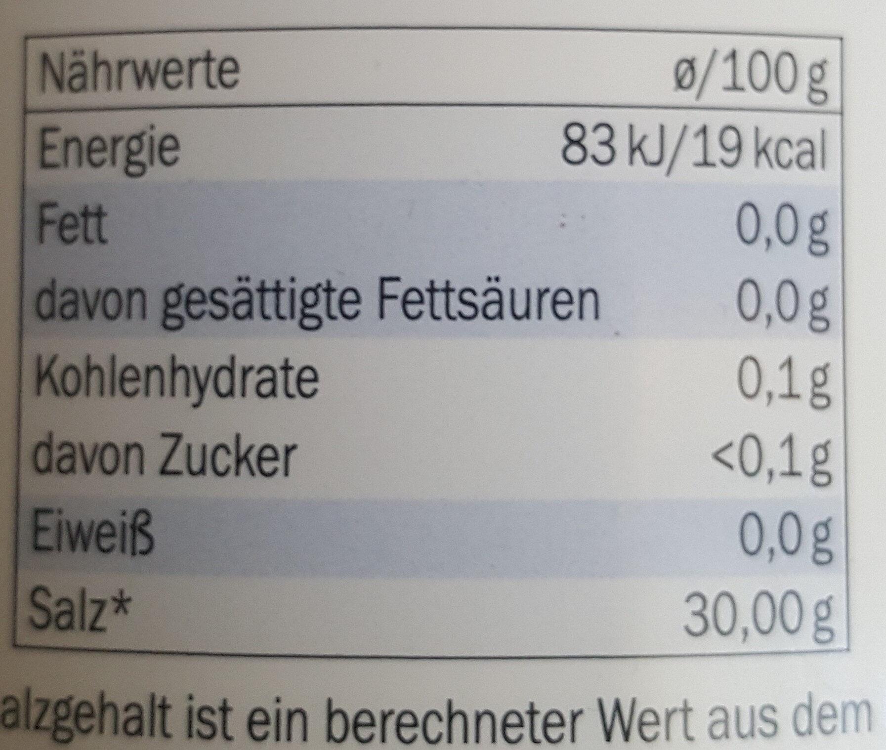 Süßstofftabletten - Información nutricional - de