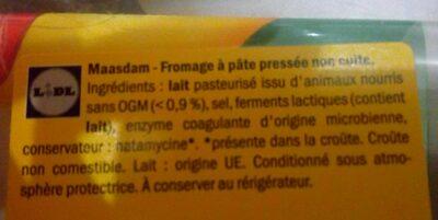 Maasdam - Ingrediënten - fr