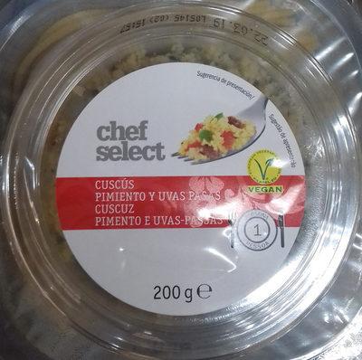 Cuscús Pimiento y uvas pasas