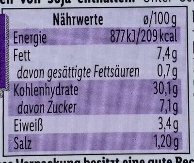 Couscoussalat Paprika Rosinen Vitakrone - Informations nutritionnelles