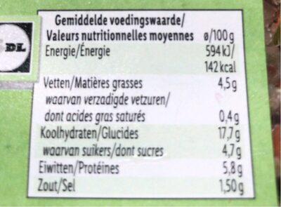 Quinoa salat - Informació nutricional - es