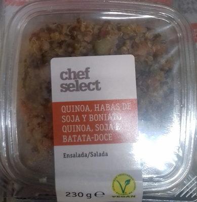 Ensalada quinoa, habas de soja y boniato