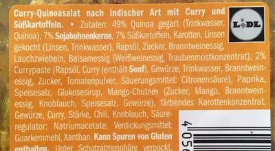 Quinoa, habas de soja y boniato - Ingrédients