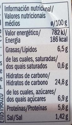 Ensalada quinoa, habas de soja y boniato - Nutrition facts