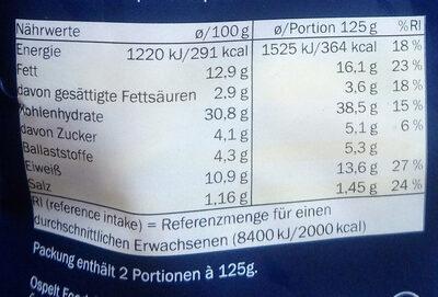 Tortelloni Pesto basilic & Pignons - Nährwertangaben - de
