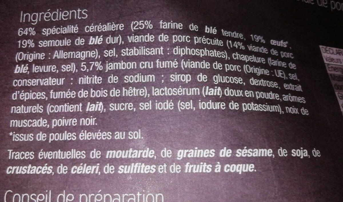 Tortellini Jambon cru fumé - Ingrédients
