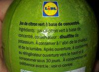 Limette - Ingrédients - fr