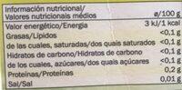 Te verde con jengibre y limon - Informations nutritionnelles - es