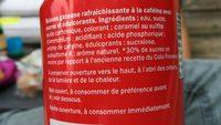Freeway Cola - Ingredients
