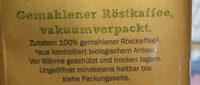 Bio Organic Gold - Ingrédients - de
