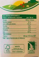 Lait demi-ecreme Envia - Informations nutritionnelles - fr
