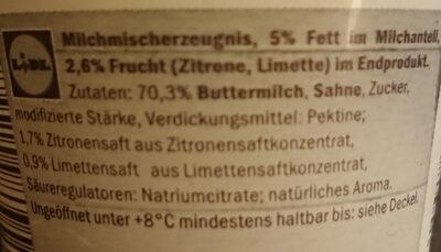 Buttermilchdessert - Ingrédients - de