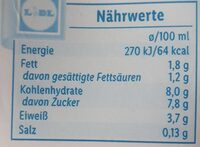 Schoco Drink - Valori nutrizionali - de