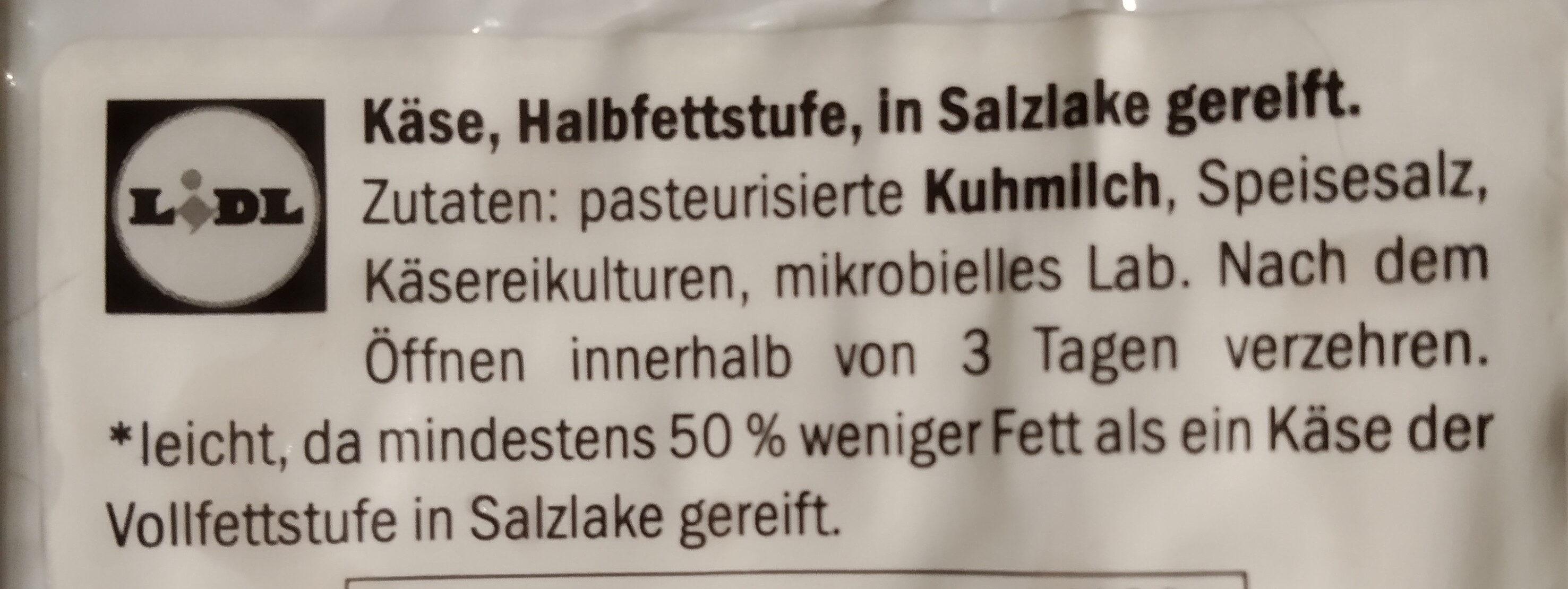 Hirten kase - Ingrédients - de