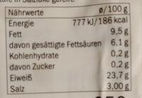 Hirten kase - Informations nutritionnelles - de