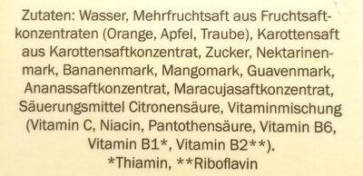 Multivitamin nektar - Zutaten - de