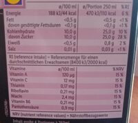 Multivitamin nektar - Nutrition facts - fr