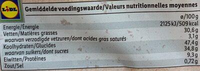 Gaufres aux oeufs bio - Informations nutritionnelles - fr
