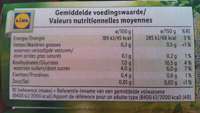 Cranberry's - Nutrition facts - nl
