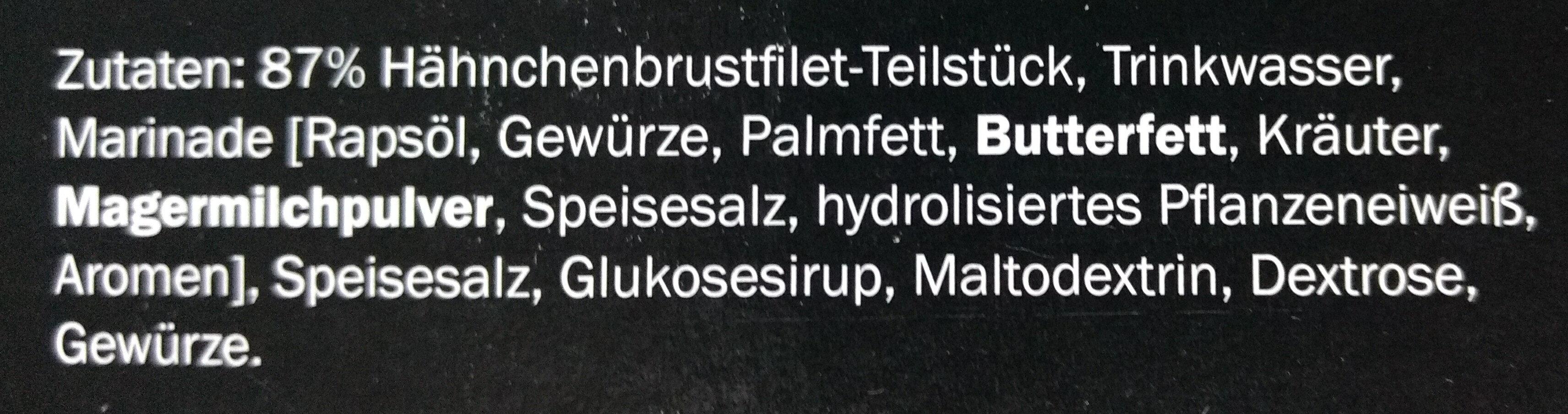 Hähnchenbrustfilet Teilstücke Kräuter - Ingredients