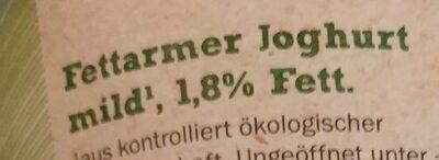 Bioland fettarmer Joghurt - Zutaten - de