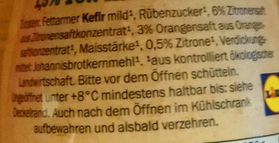 Fettarmer Kefir Mild - Ingrediënten - de