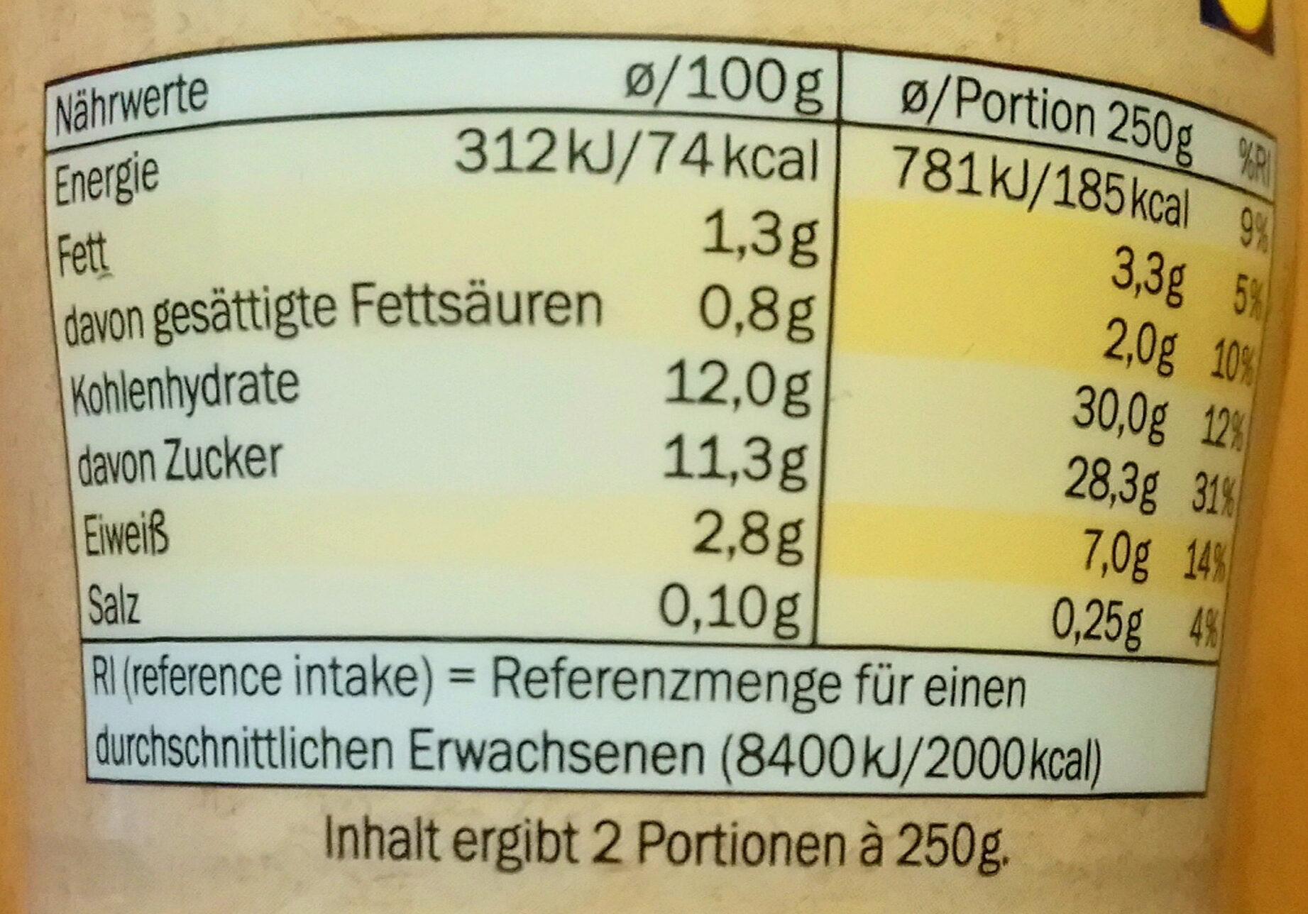 Fettarmer Kefir Mild - Voedingswaarden - de
