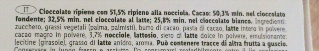 Chocolate Hearts - Nutrition facts - de