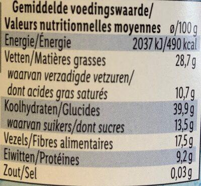 Granola Bites cocos & chocolat - Nutrition facts - de