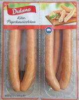 Käse-Paprikawürstchen. Wurst - Product - en