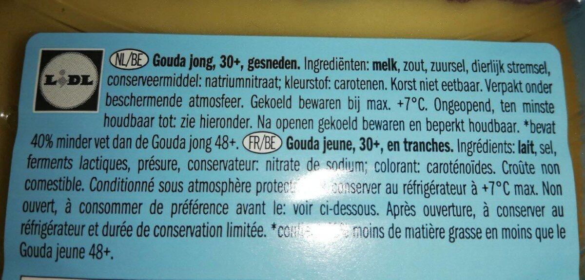 Gouda light jeune - Ingrediënten - fr