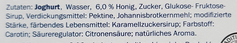 Yogur griego con miel - Inhaltsstoffe