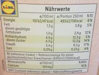 Frische fettarme Milch - Nutrition facts - de
